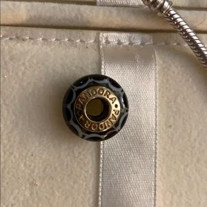 Retired Black Lotus Glass Charm